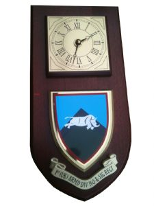 1 UK Armoured Division HQ and Signal Wall Plaque Clock